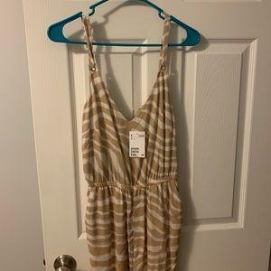 NWT zebra print jumpsuit